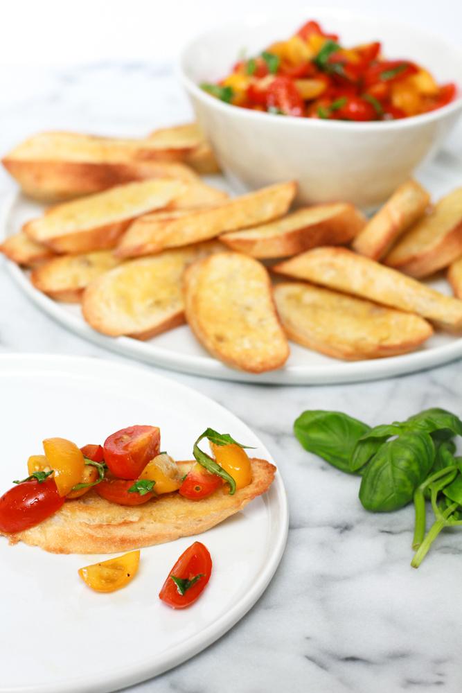 Cherry Tomato Bruschetta Recipe