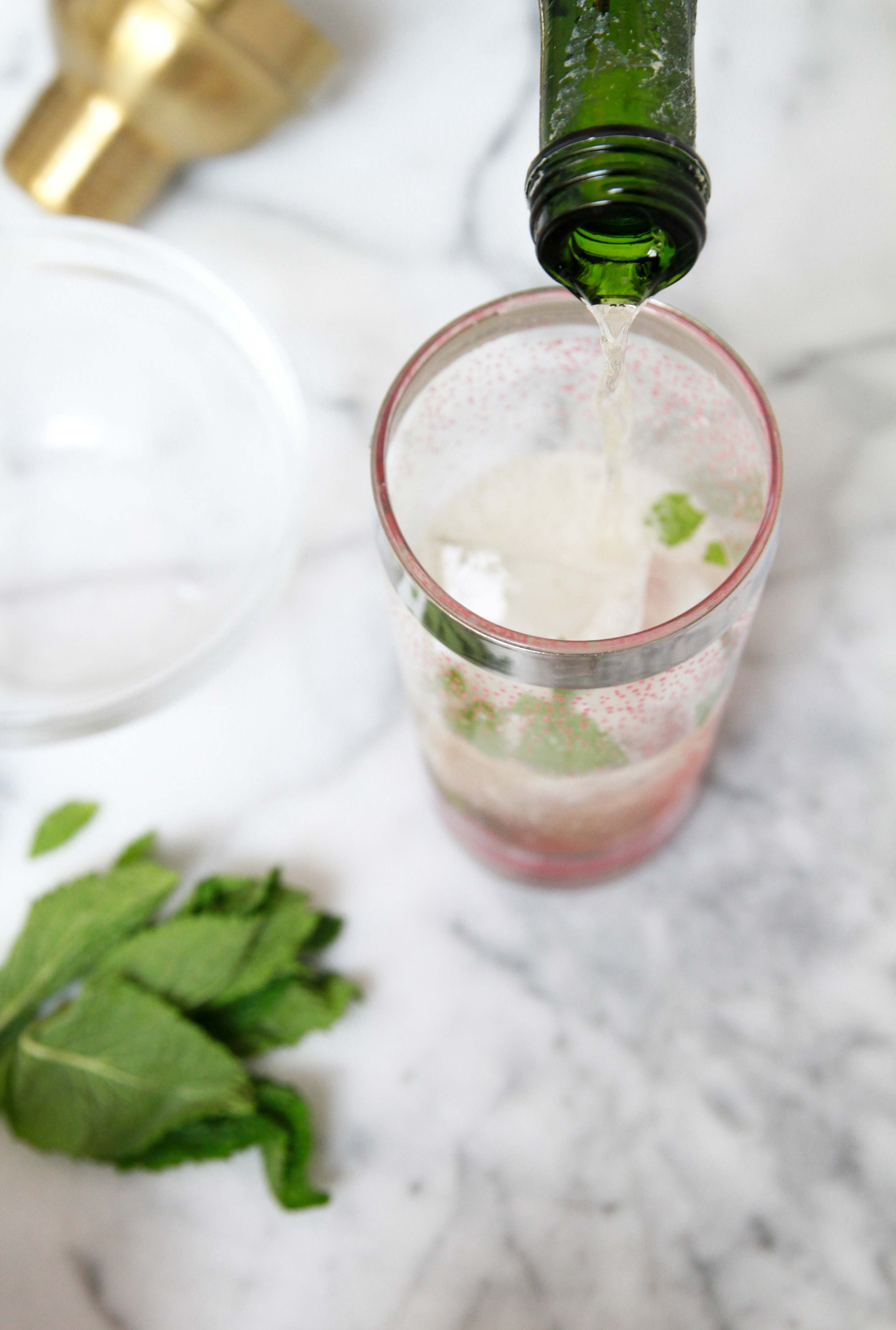Sparkling Watermelon Mint Cocktail